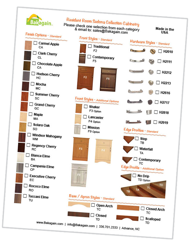 Bakagain Sedona Collection Cabinetry Options Icon Link