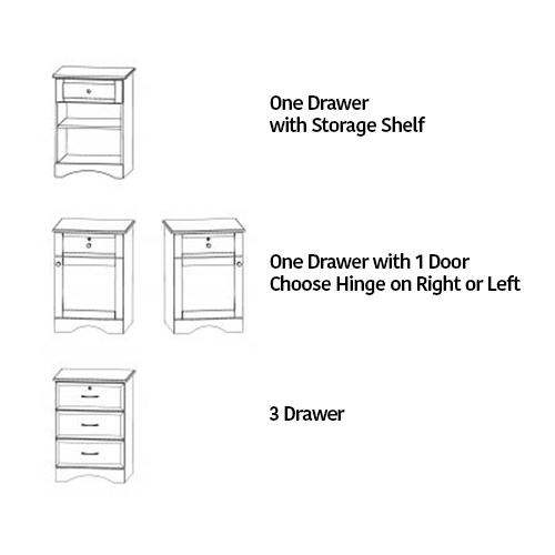 Bedside Cabinet Door and Drawer options