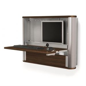 Monitor PC Wall Desk Pro Walnut