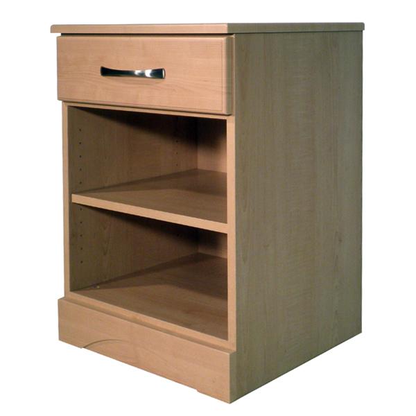 Sedona 1 Drawer and Storage Shelf Bedside Cabinet