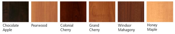 Woodgrain laminate finishes