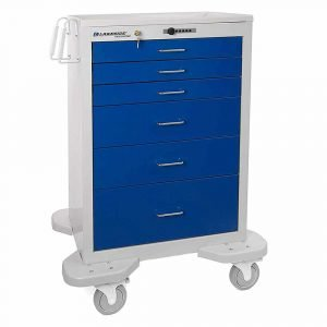 Lakeside Emergency Anesthesia Cart C630 Push Button Lock