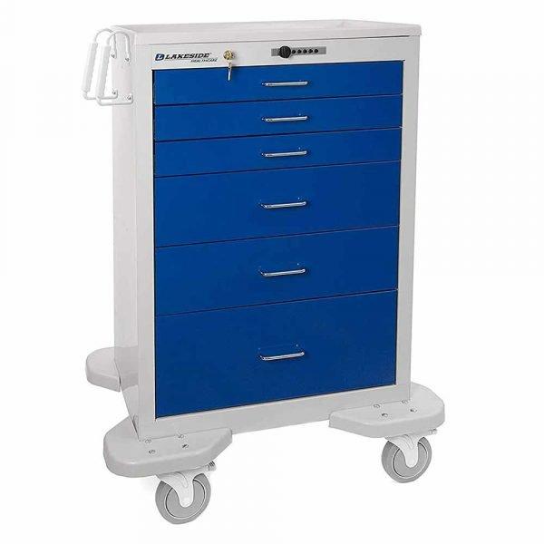Lakeside Emergency Anesthesia Cart C630 Push Button Lock