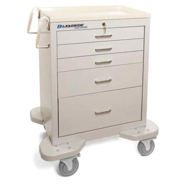 5 Drawer Emergency Cart Lakeside Mfg