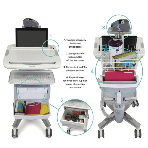 phlebotomy cart features