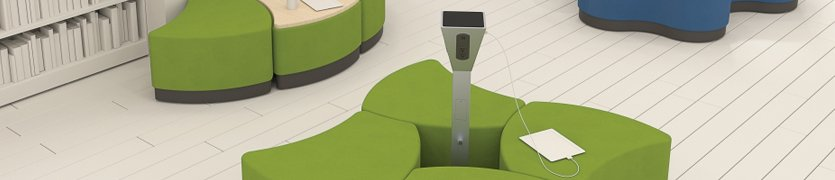Power tower to charge mobile devices