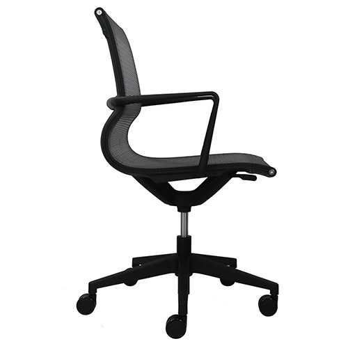 Kinetic Mesh Task Chair MT301A-Black Side View