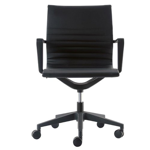 Kinetic Task Chair VT032V Black Vinyl Front