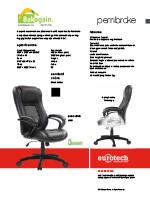 Eurotech Pembroke Leather Chair