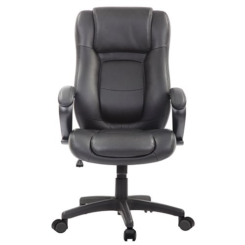 Pembroke Executive Leather Chair LE521 Black Front
