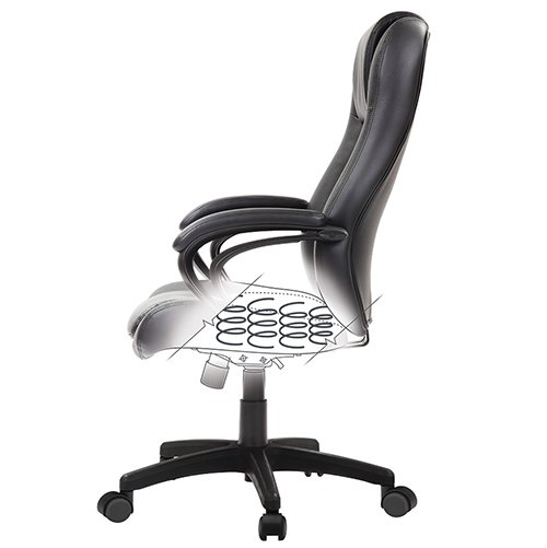 Pembroke Leather Chair LE521 LE522 Spring Seat Black