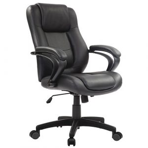 Pembroke Managers Leather Chair LE522 Black Leather