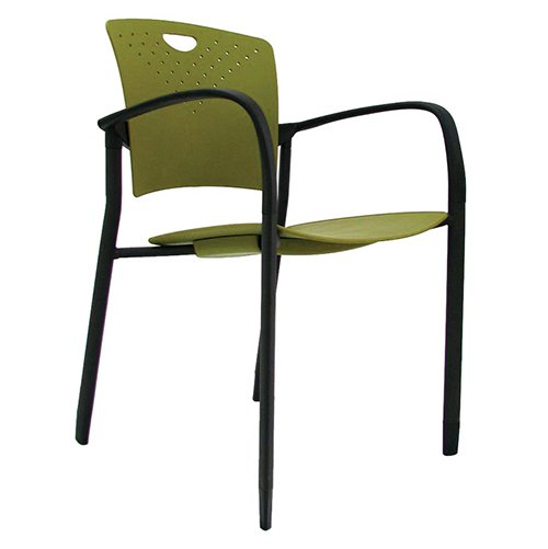 Staq Stacking Chair with Glides Green