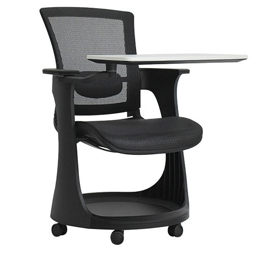 Eduskate Mobile Tablet Chair Black Mesh Black Frame