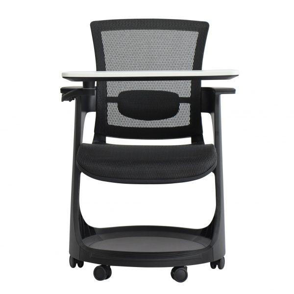 Eduskate Mobile Tablet Chair Black Mesh Front View
