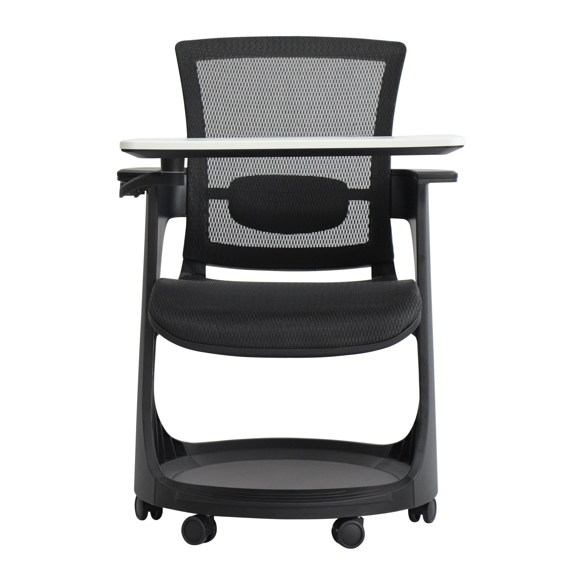 Eduskate Mobile Tablet Chair Black Mesh Front View