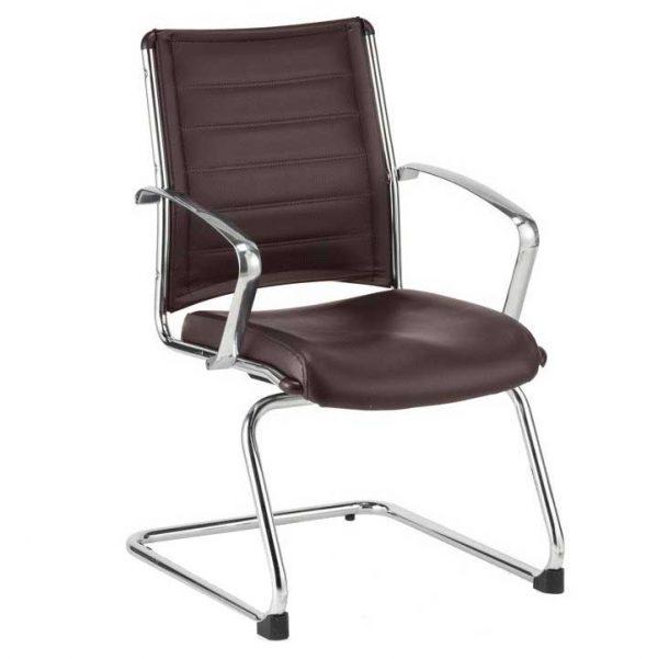 Europa LE833 Brown Guest Chair Eurotech