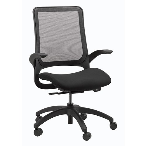 Hawk Back Mesh Chair Black Eurotech