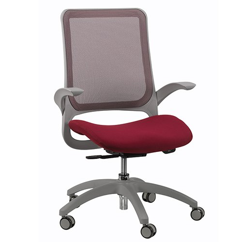 Hawk Mesh Back Chair Burgundy Eurotech Seating