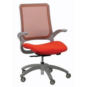 Hawk Mesh Back Chair Orange Eurotech