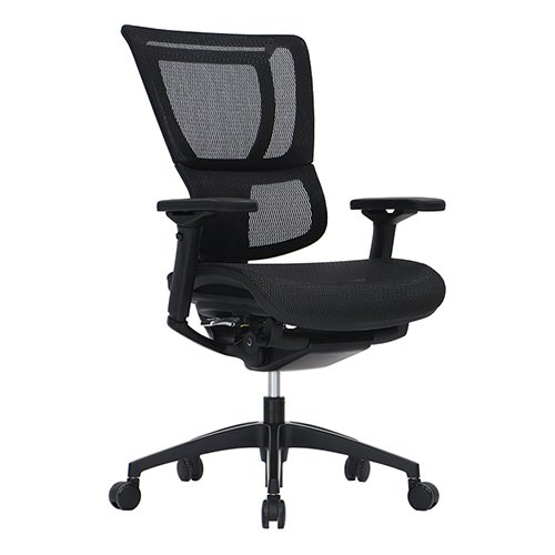 iOO Premium Chair Black Fabric Mesh Seating