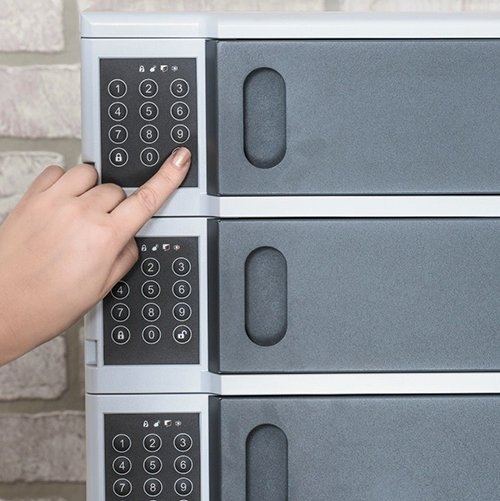 5 Bay Charging Locker Digital Key Locking