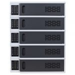 5 Bay Charging Locker for Mobile Devices Front