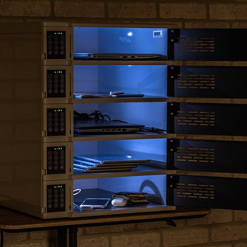 5 Bay Charging Locker for Mobile Devices Illuminated