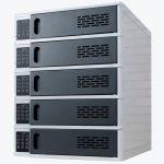 5 Bay Charging Locker for Mobile Devices Model LLTSW5-G