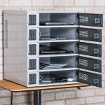 5 Bay Charging Locker for Mobile Devices Table Top