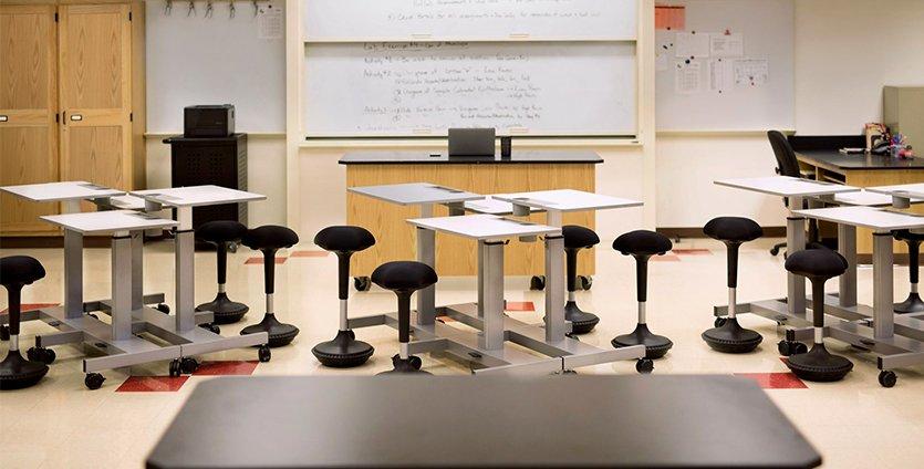 Adjustable Height Student Desks