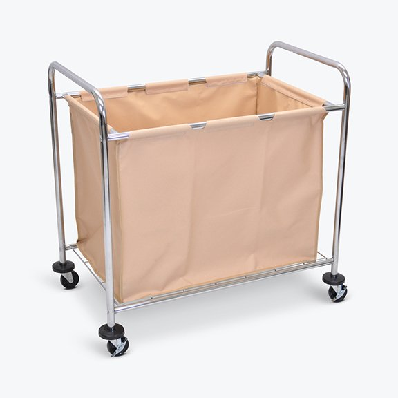 Laundry Cart with Canvas Bag Angled Luxor HL14
