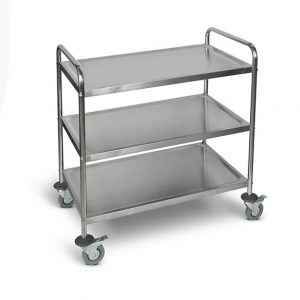 ST-3 Large Stainless Steel Utility Cart 3 Shelves