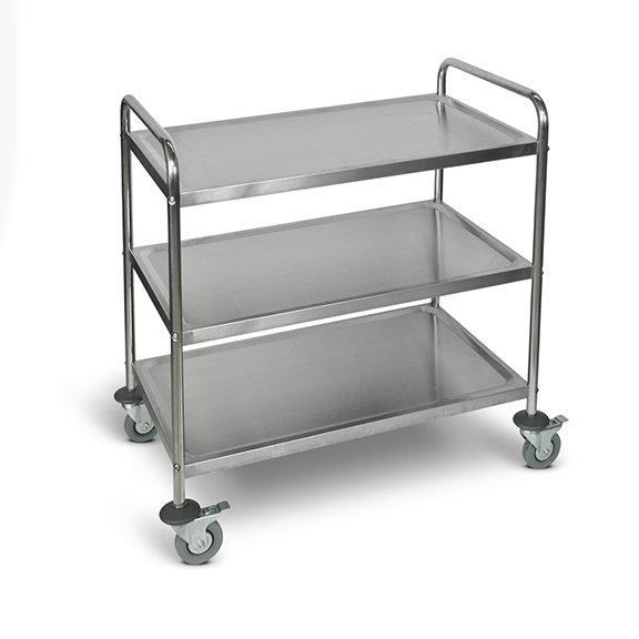 ST-3 Large Stainless Steel Utility Cart 3 Shelves