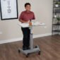 Luxor Pneumatic Height Adjustable Student Desk Standing - STUDENT-P