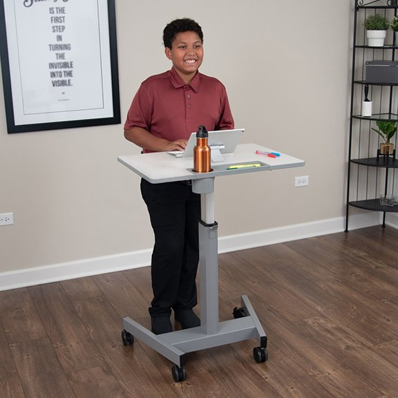 Luxor Pneumatic Height Adjustable Student Desk Standing - STUDENT-P