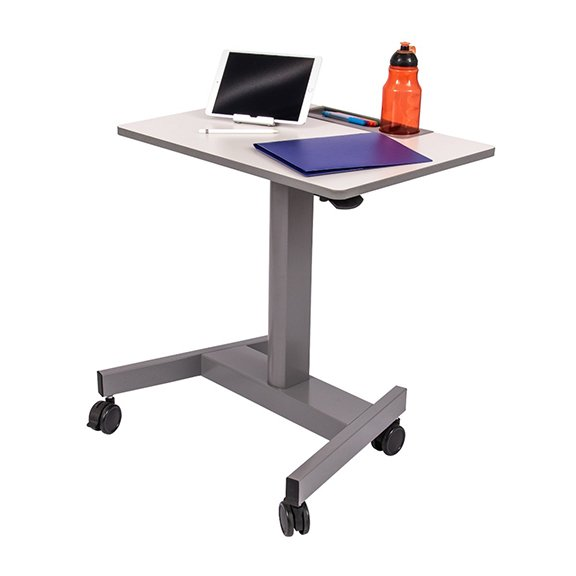 Luxor STUDENT-P Pneumatic Adjustable Height Student Desk - Props