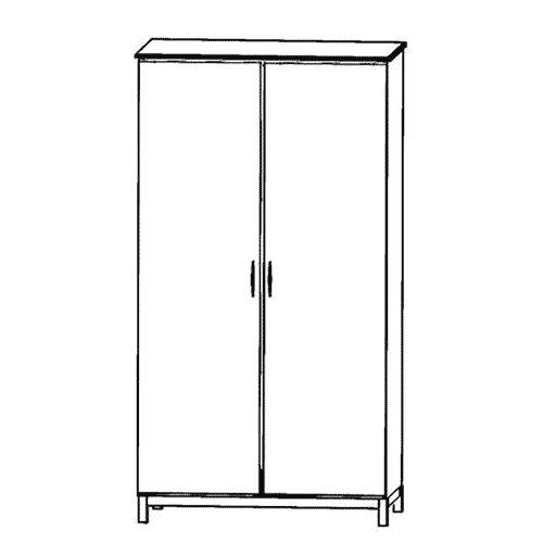 Siena Double Door Wardrobe