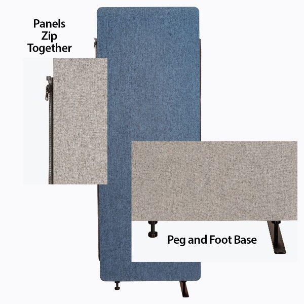 Acoustic Divider Panels Zip Together