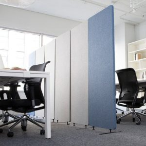 Luxor Blue and Gray Acoustic Divider Panels