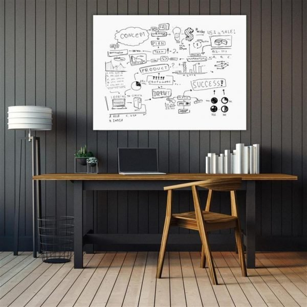 Luxor magnetic glass white board in 4 sizes