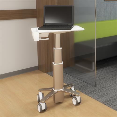 Carefit Slim Laptop Cart in Medical Facility