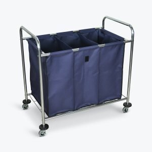 Luxor 3 compartment laundry cart