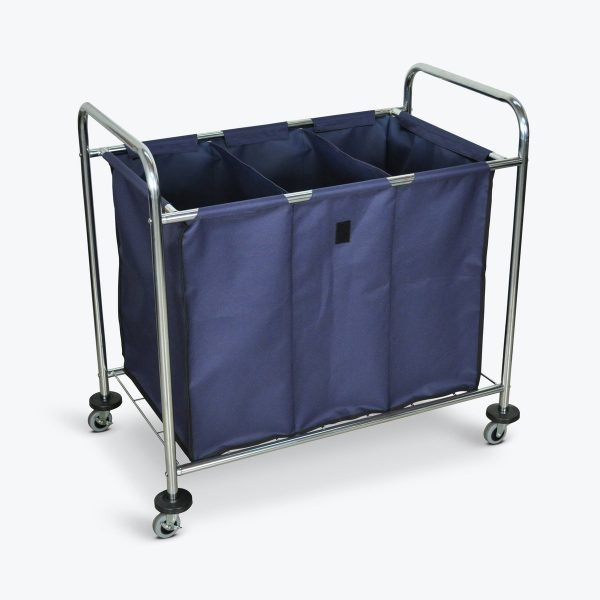 Luxor HL15 Industrial Laundry Cart 3 Compartments Canvas Bag