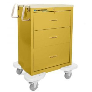 Isolation Medical Cart c-330 solid yellow