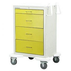 Lakeside c-430 Isolation Medical Cart 2 Tone yellow