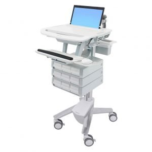 Ergotron 9 drawer medication styleview laptop cart