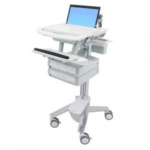 Styleview Pharmacy Medical Cart with 4 locking drawers