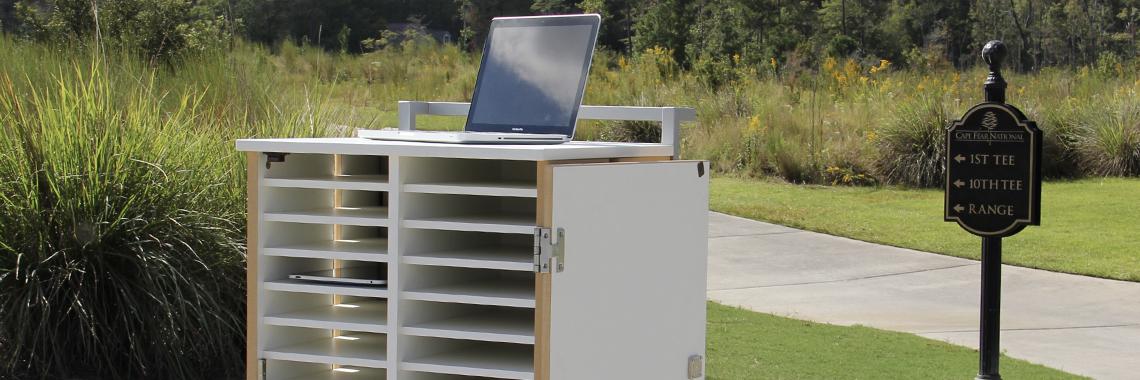 mobile laptop Charging cart