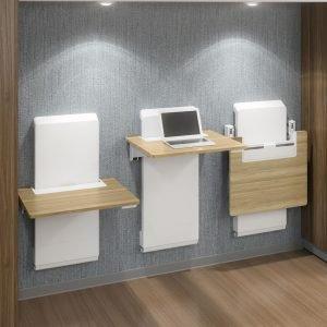 Ergotron WorkFit Sit to Stand Wall Desk